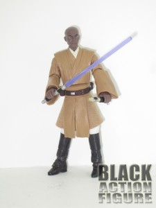 Mace holding both of his lightsabers