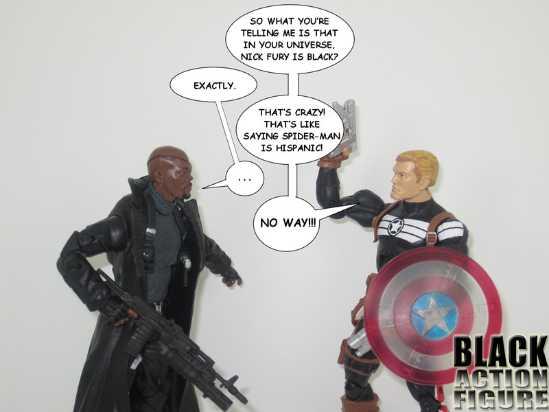 Nick Fury and Commander Steve Rogers (Marvel Legends)