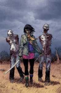 Michonne on the cover of The Walking Dead