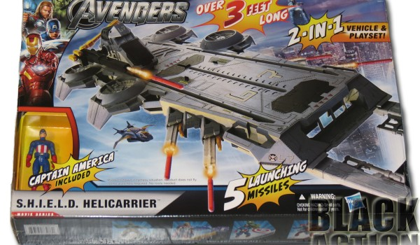 Avengers Helicarrier Front of Box