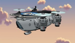 Comic Style SHIELD Helicarrier
