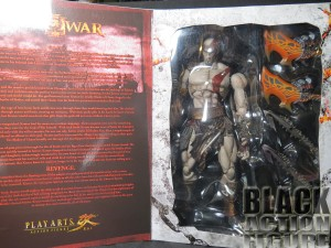 Kratos Inside the front cover of Package