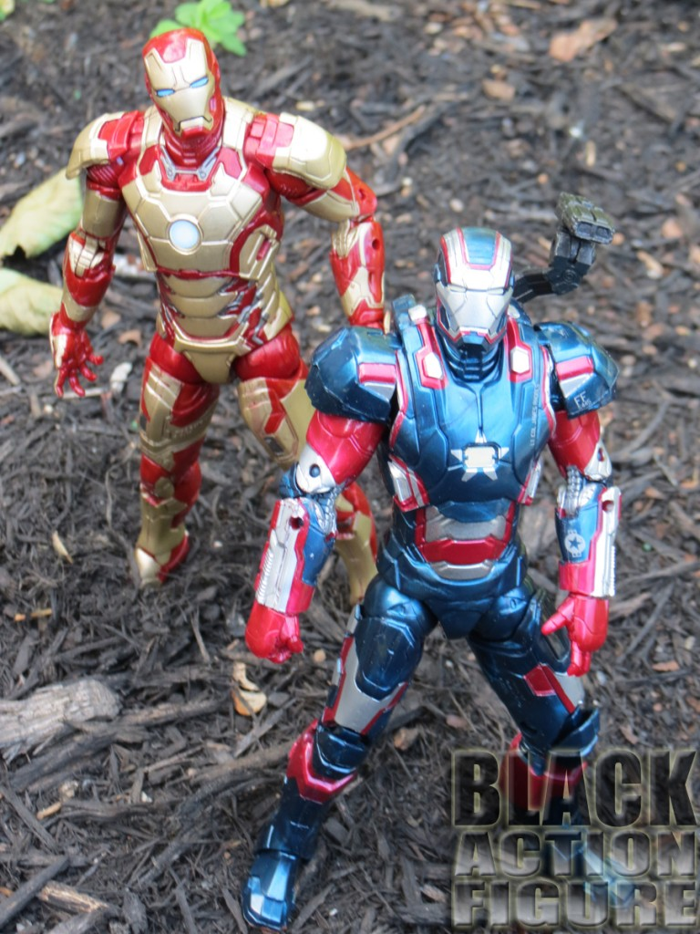 Iron Patriot and Iron Man XLII